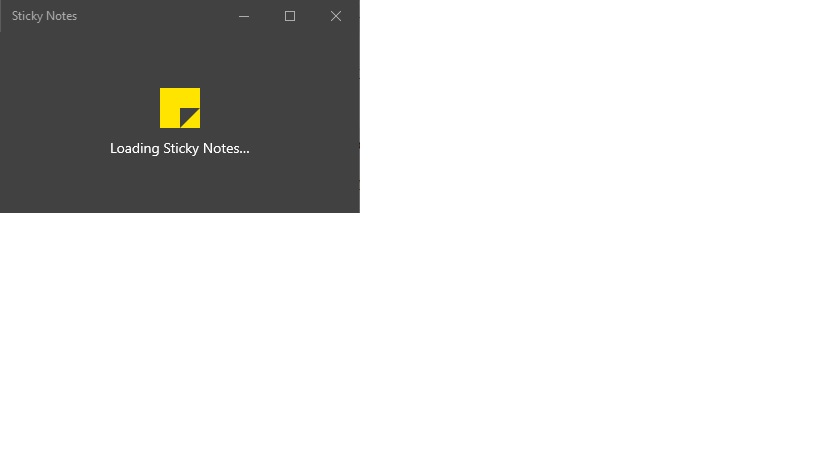 Sticky Notes Loading Issue Microsoft Community