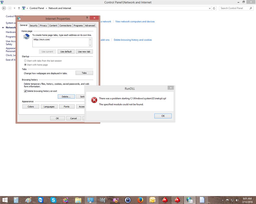 inetcpl.cpl error. - Microsoft Community