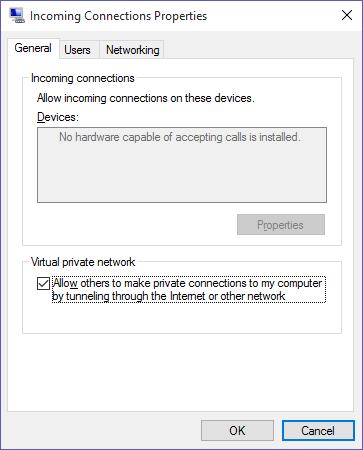 VPN Server on Windows 10 not Working - Microsoft Community