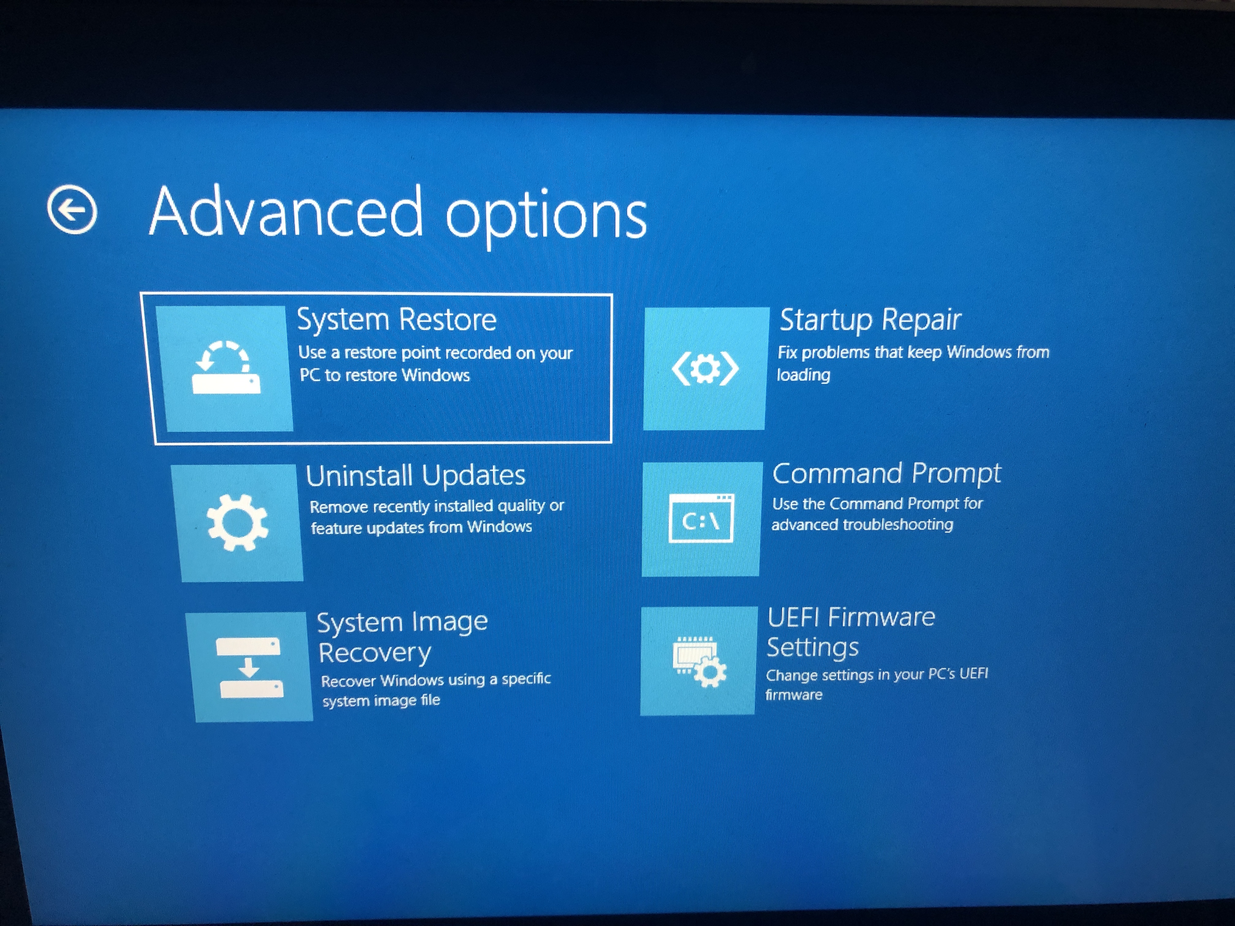 Can't Exit Windows Recovery Environment NEED HELP - Microsoft Community