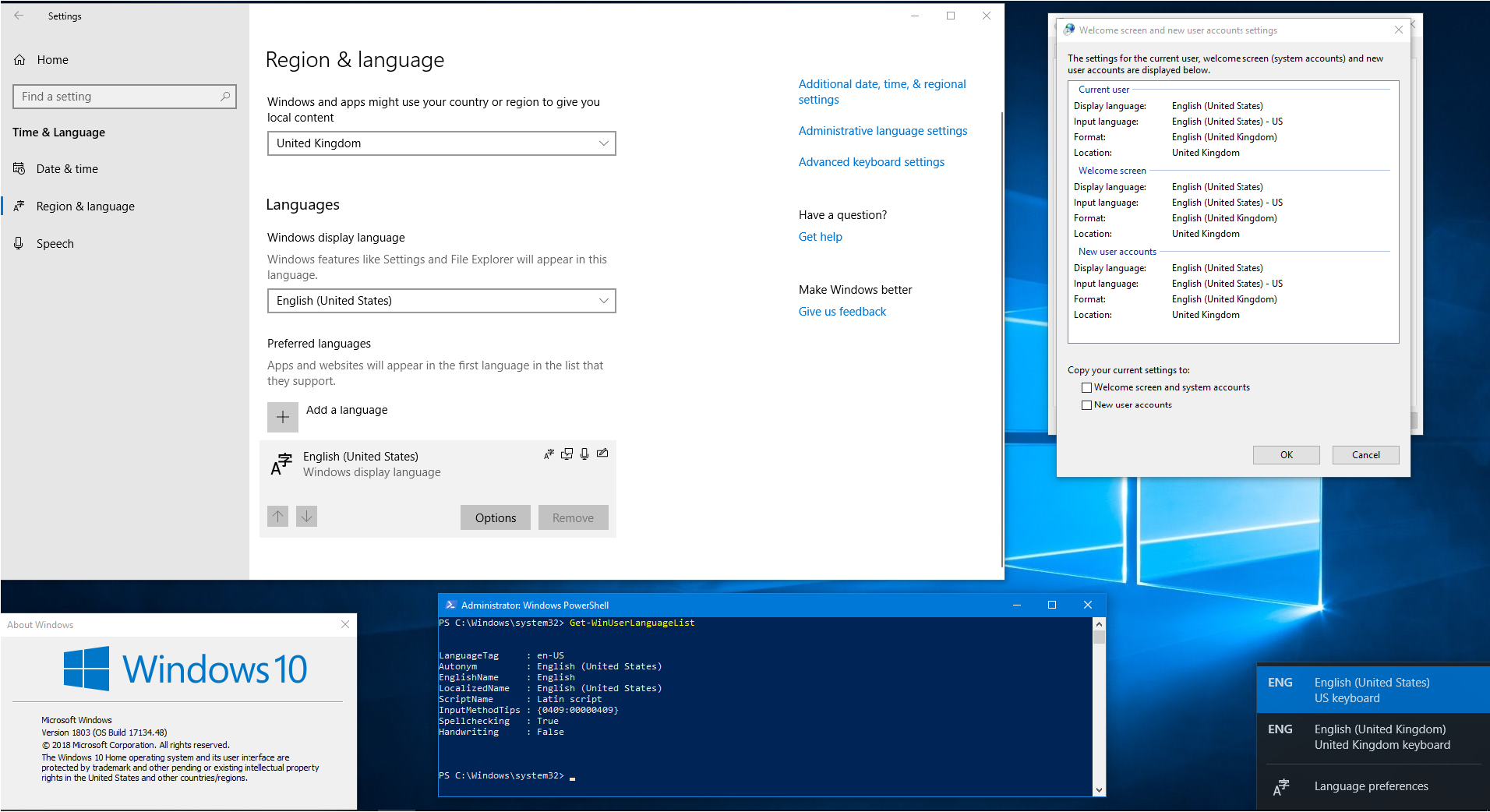 Can't remove a new keyboard layout in Windows 10 1803 - Microsoft