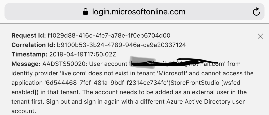 Can't log back into Microsoft account on switch - Microsoft