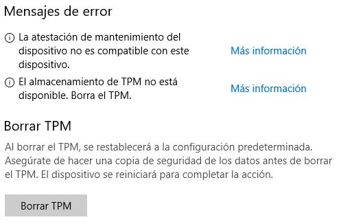 Problemas con el Módulo de Plataforma Segura (TPM) en - Microsoft