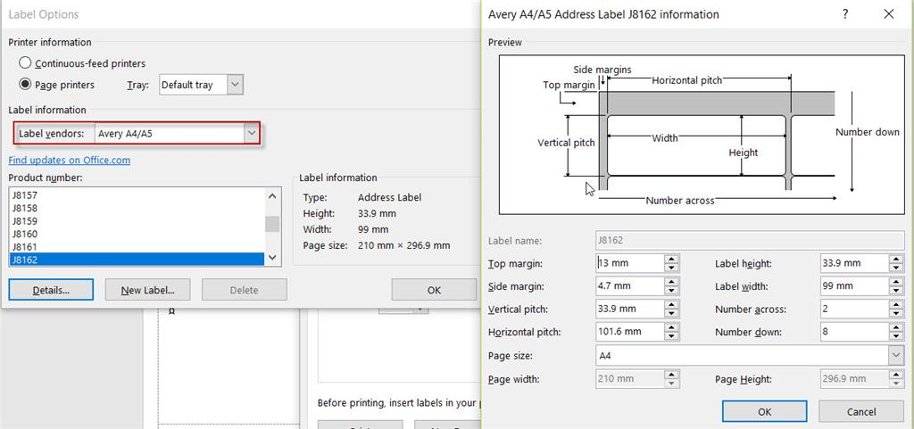 Avery Labels Templates No Longer Compatible After Recent Office 365