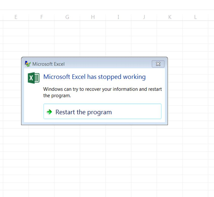 microsoft excel has stopped working 2013