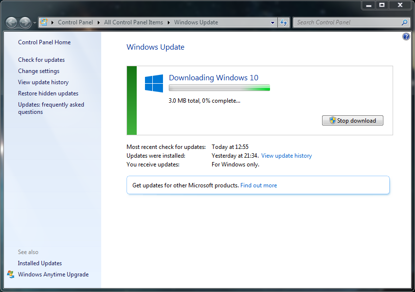 free update from windows 7 to windows 10