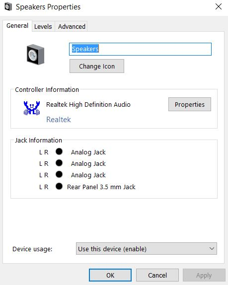 Windows 10 realtek hd audio driver audio from speaker and