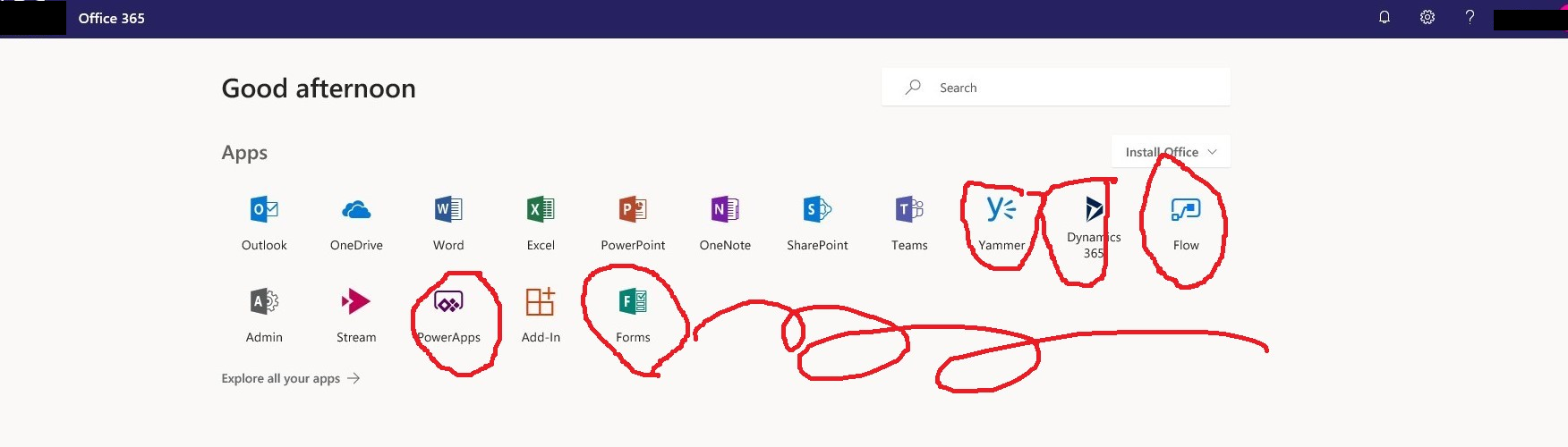 how to hide app tiles in Office 365 - Microsoft Community