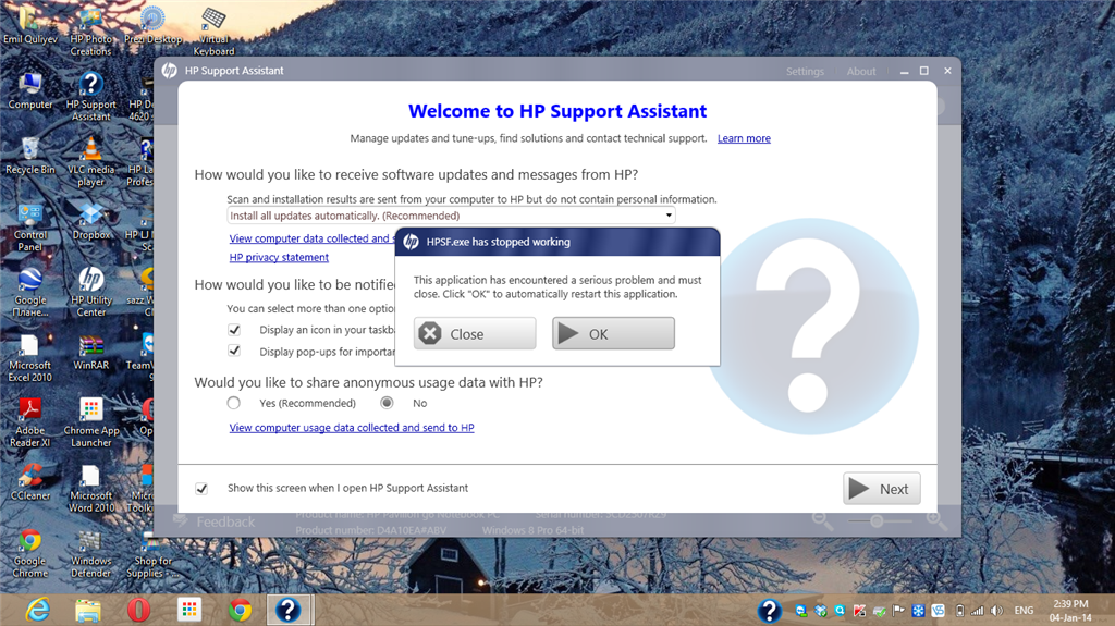 download hp support assistant