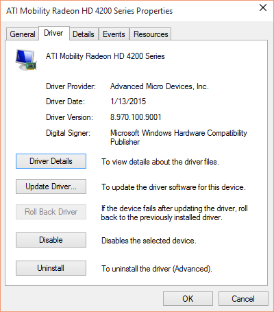 ati radeon hd 4800 driver windows 10 32 bit