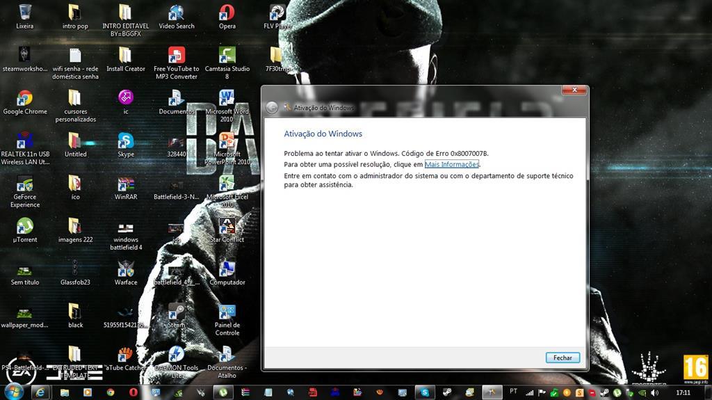 como faco para ativar o windows 7 professional