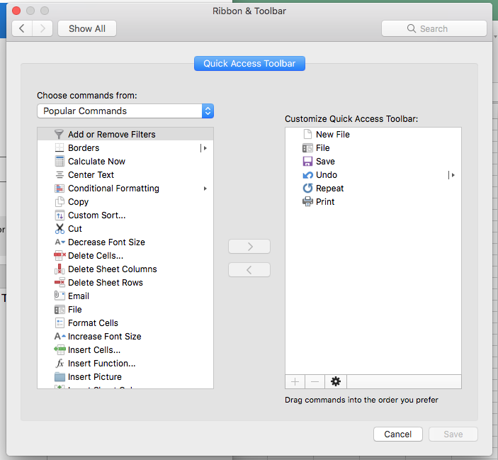Microsoft Office 2016 for Mac missing the File tab - Microsoft Community