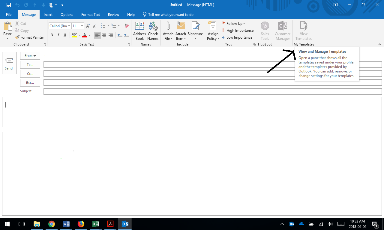 Outlook Template Button Greyed Out Microsoft Community