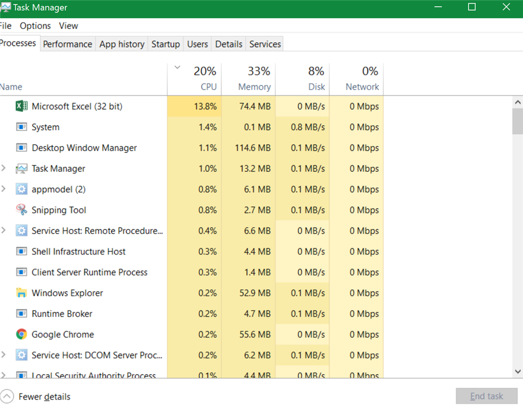 Excel 2016 High CPU Usage - Microsoft Community