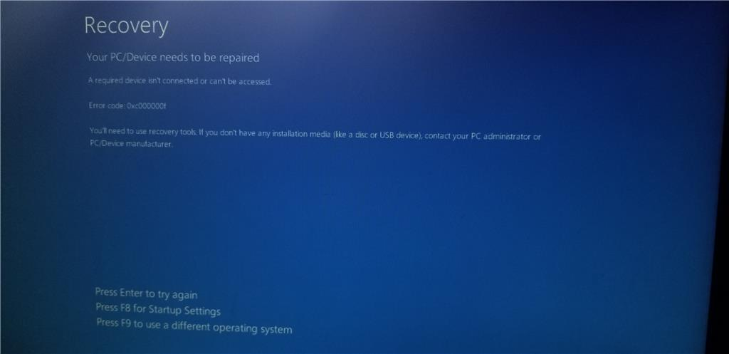 Boot Loop after updates tried (and failed) to install - Microsoft