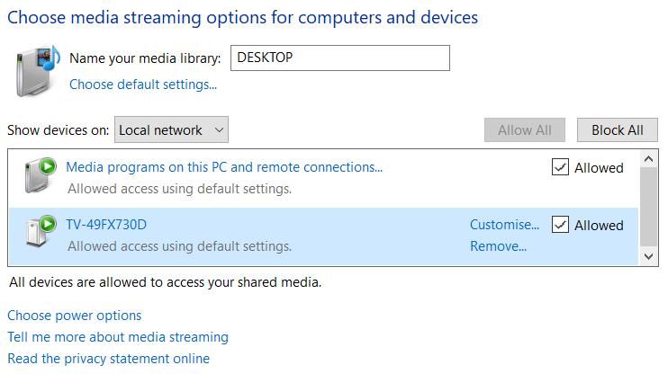 Connect Windows 10 PC to Smart TV - Microsoft Community