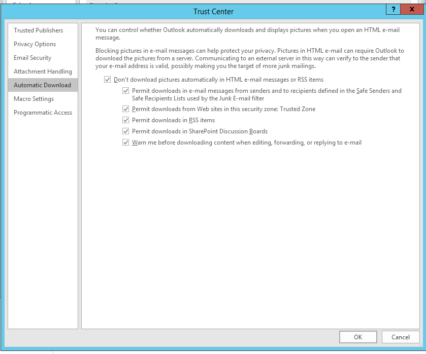 Outlook 2016 Office Attachment Preview Error - Microsoft