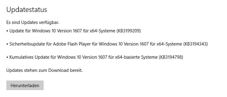 windows 7 hängt bei update