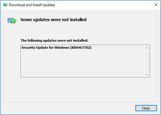 Windows Update does not install the 2018-11 Cumulative