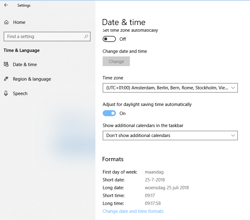 Skype 8 shows AM/PM times in chat while windows 10 is set to
