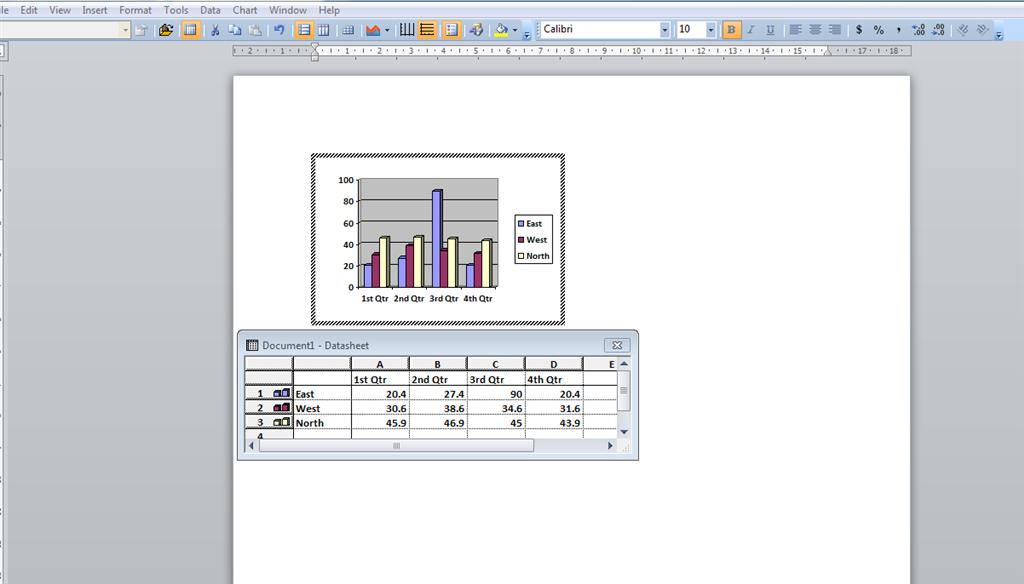 How Do I Insert A Custom Chart In Microsoft Word 2010