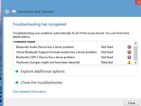 windows 8.1 fix bluetooth