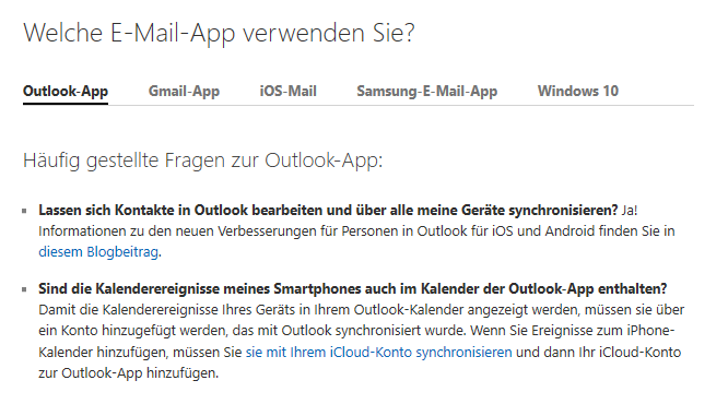 Microsoft konto kontakte android