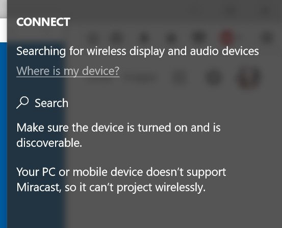 does my pc support miracast windows 10