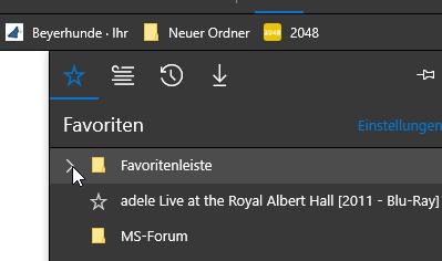 windows 10 favoriten anzeigen