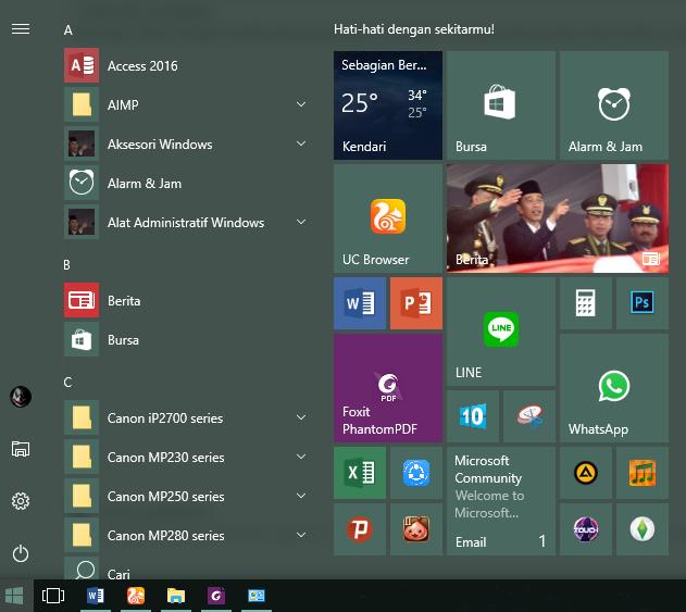 where is the start menu folder in windows 10