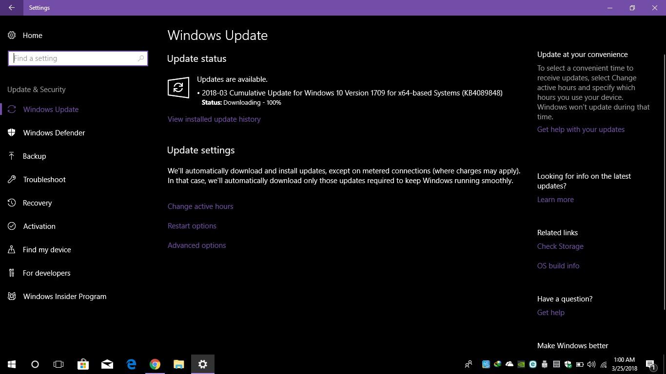 download cumulative update windows 10 1709