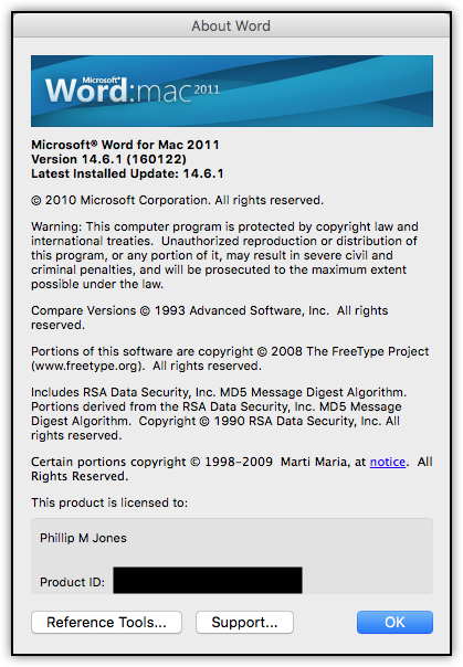 Latest Update for MS Office 2011 for Mac ? - Microsoft Community