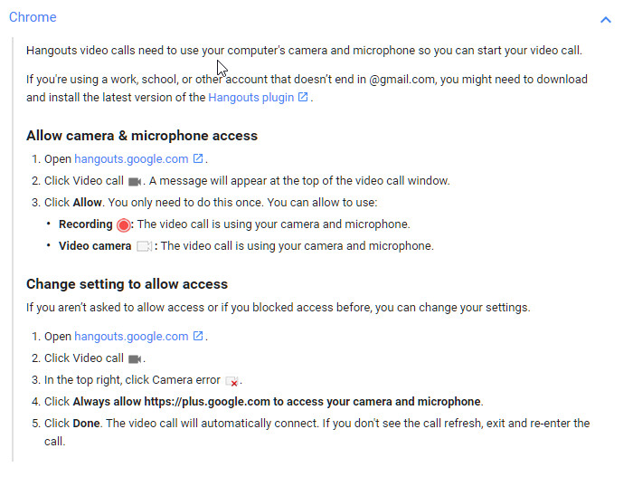 How To Unblock Camera and Mic so Google Hangouts Can Use