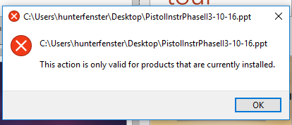 Double clicking on a PowerPoint presentation will not open ppt