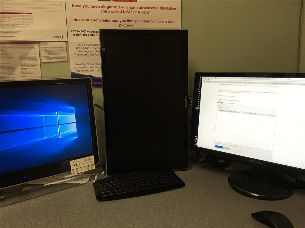 3rd Monitor Not Detected (Using Active DisplayPort-DVI - Microsoft