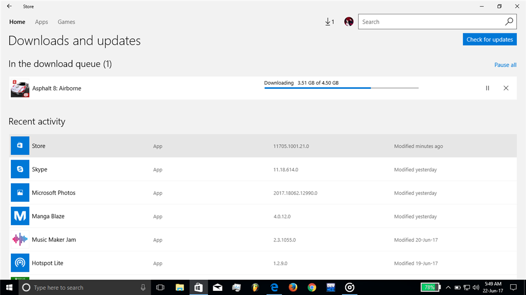 Store download size keeps on increasing - Microsoft Community