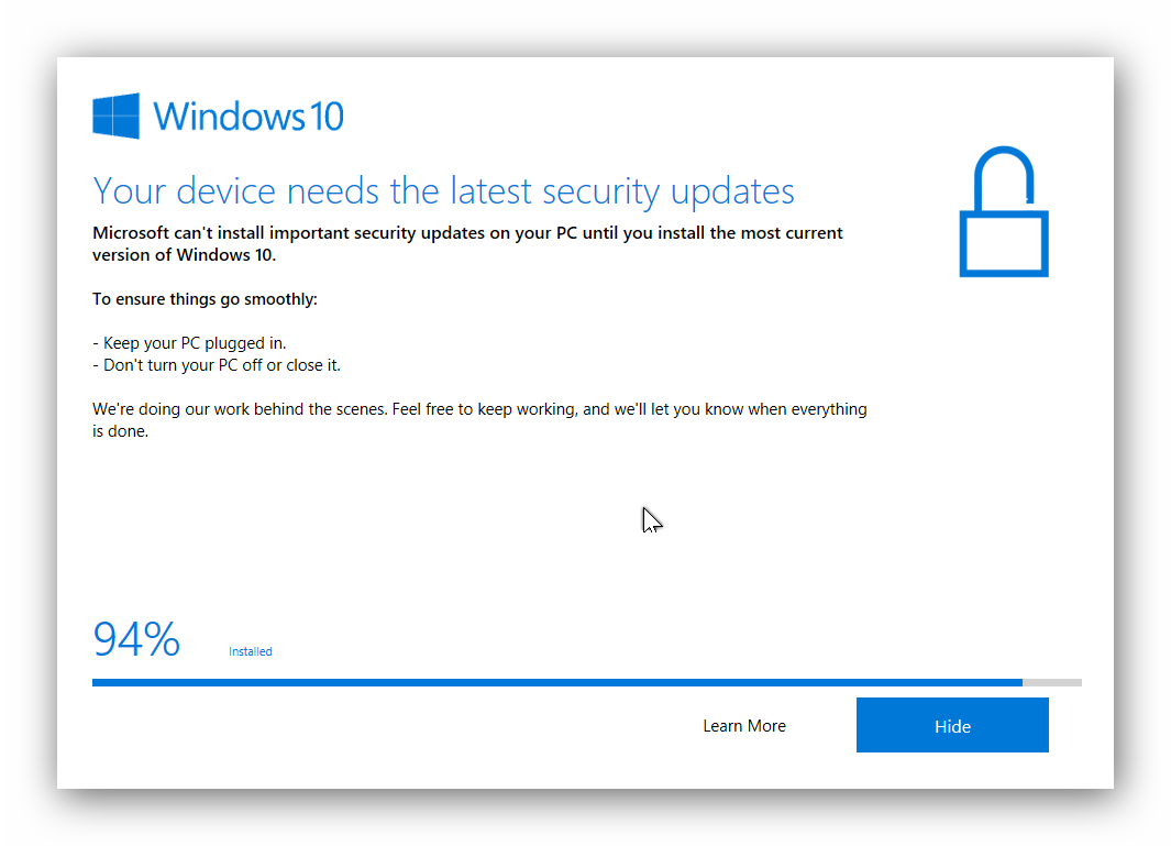 Windows 10 unable to install important security update - Microsoft ...