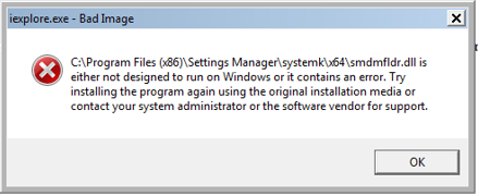 "When starting Internet Explorer 10 - ""iexplore.exe - Bad ..."