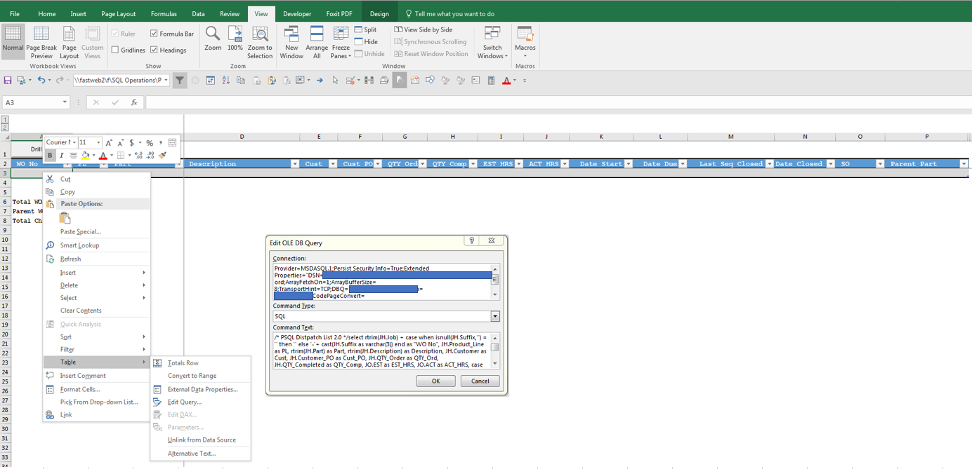 Office update to version 1803 (Build 9126 2259) causing Excel