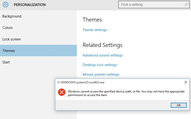 Windows 10 You may not have the appropriate permissions to access