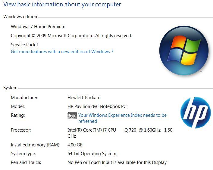 windows 7 home premium no internet access