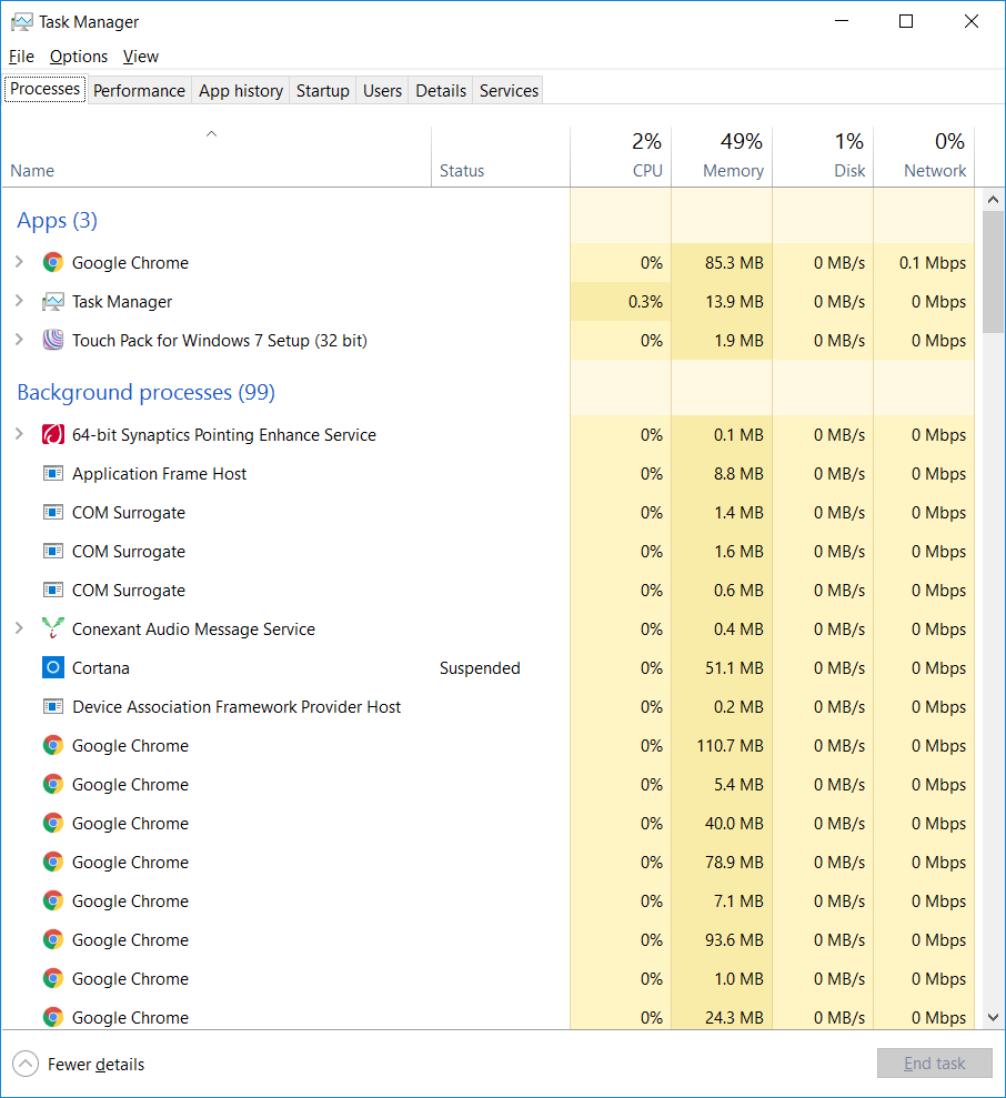 Fan constantly running despite low CPU Usage, Windows 10