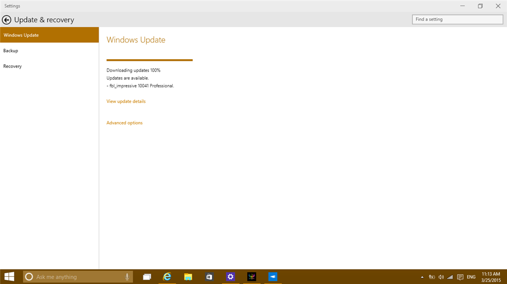 Windows 10 build 10041 download stops at 100 microsoft community the windows 10 technical preview build 10041 download stops at 100 and after 30 minutes it is not yet finished ccuart Image collections