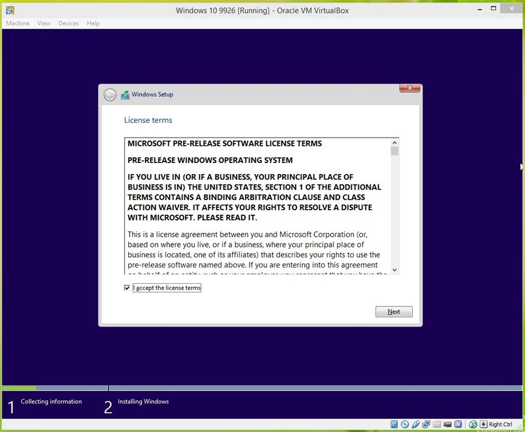 How to: install the latest Windows 10 Build in Oracle VirtualBox