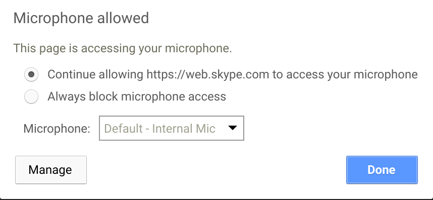 Can't Allow Camera Access to Skype in Chrome - Microsoft Community