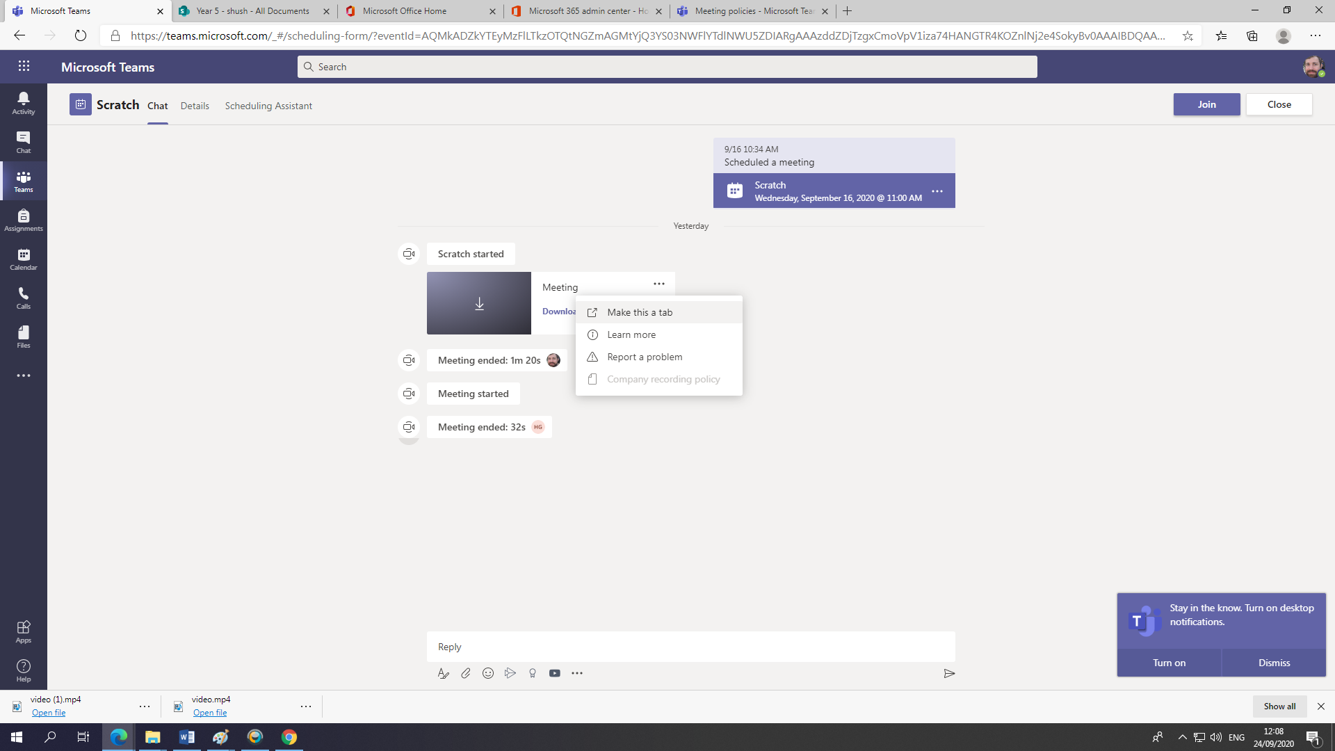 Cannot delete meeting recording in Microsoft Teams - Microsoft