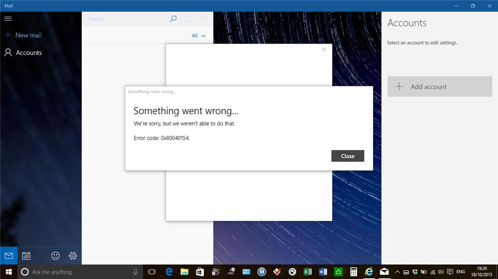Windows 10 Mail and Calendar App Not working - Microsoft