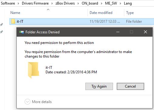 Cannot Delete Folder - Access Denied - Windows 10