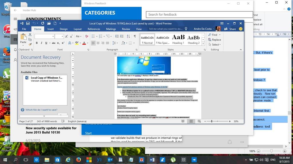 windows 10 how to show programs running