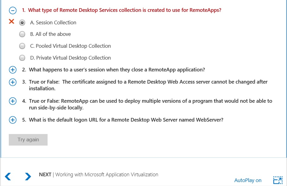 Microsoft Desktop Virtualization Try Again Button Greyed Out